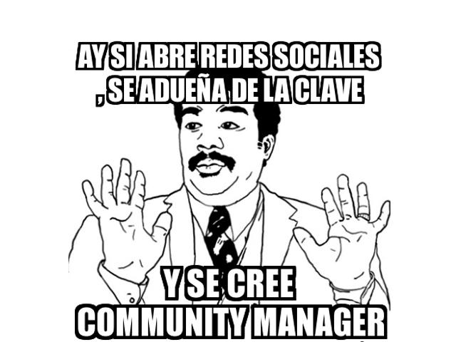 Community manager de pacotilla