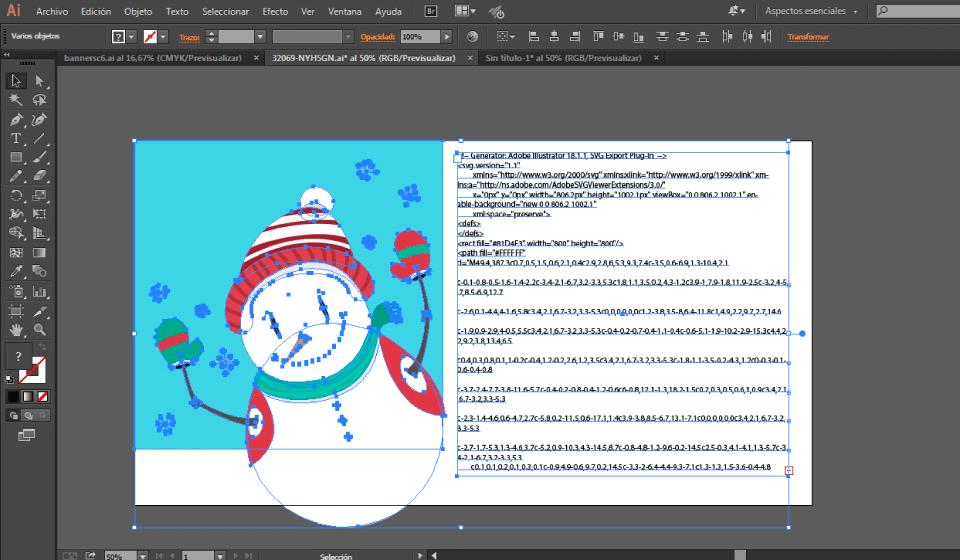Obtener el svg de un vector en ilustrator css