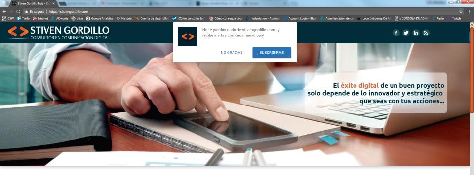 Alertas en el navegador stiven gordillo